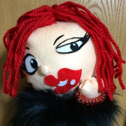 マサキをモデルにした人形の写真